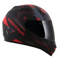 Capacete Norisk FF391 Stripes Matte Black / Grey / Red