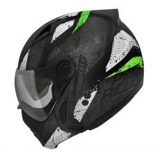 Capacete Peels Mirage Revo Preto Fosco/Verde