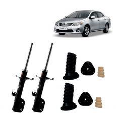Par Amortecedores Dianteiros Kyb com Kit Sampel Toyota Corolla 2009 Até 2014