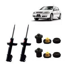 Par Amortecedores Dianteiros Kyb + Kit Sampel Chevrolet Astra 1998 Em Diante