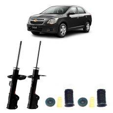 Par Amortecedores Dianteiros Kyb + Kit Sampel Chevrolet Cobalt 2011 Em Diante
