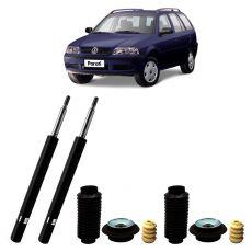 Par Amortecedores Dianteiros Kyb + Kit Sampel VW Parati 2.0 16v 1997 Até 2001