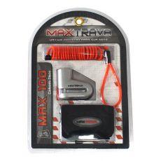 Trava Anti Furto Maxtrava Cadeado Disco Com Cabo Lembrete Bolsa Max 100