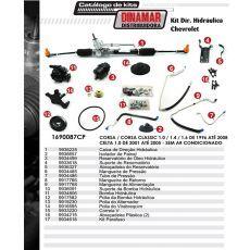 Kit De Direção Hidráulica Do Chevrolet Celta 1.0 De 2001 Até 2005 / Corsa /Corsa Classic 1.0/1.4/1.6 De 1996 Até 2008 (Modelos Sem Ar Condicionado)