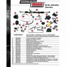 Kit De Direção Hidráulica Do Chevrolet Novo Corsa Montana 1.0/1.8/1.4 Flex Power / Econoflex De 2002 Em Diante (Modelos Com Ar Condicionado)