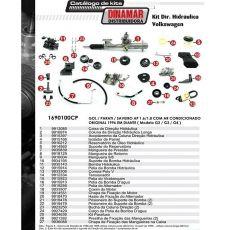 Kit De Direção Hidráulica Do Volkswagen Gol Parati Saveiro Ap 1.6/1.8 (Modelos G2/G3/G4) De 1996 Em Diante (Modelos Com Ar Condicionado Original)