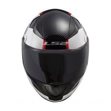 Capacete LS2 FF353 Rapid Ghost White/Black/Red