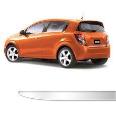 Friso Porta Malas Chevrolet Sonic Hatch Cromado Resinado