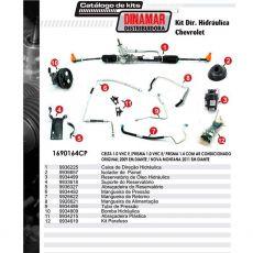 Kit De Direção Hidráulica Do Chevrolet Celta Prisma 1.0 Vhc E Prisma 1.4 De 2009 Em Diante Nova Montana 2011 Em Diante (Modelos Com Ar Condicionado Original)