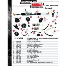 Kit De Direção Hidráulica Do Chevrolet Corsa Classic 1.0 Vhc E De 2009 Em Diante (Modelos Sem Ar Condicionado)