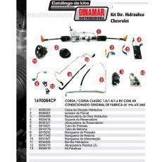 Kit De Direção Hidráulica Do Chevrolet Corsa/Corsa Classic 1.0/1.4/1.6 8V De 1996 Até 2005 (Modelos Com Ar Condicionado Original)