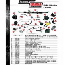 Kit De Direção Hidráulica Do Chevrolet Novo Corsa Montana 1.0/1.8/1.4 Flex Power / Econoflex De 2002 Em Diante (Modelos Sem Ar Condicionado)