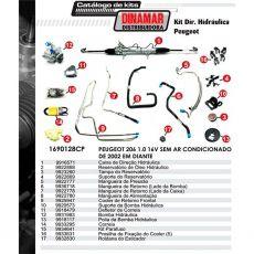 Kit De Direção Hidráulica Do Peugeot 206 1.0 8/16V De 2002 Em Diante (Modelos Sem Ar Condicionado)