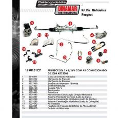 Kit De Direção Hidráulica Do Peugeot 206 1.4 8/16V De 2004 Até 2008 (Modelos Com Ar Condicionado)