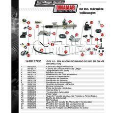 Kit De Direção Hidráulica Do Volkswagen Gol G4 1.0 De 2011 Em Diante (Modelo Sem Ar Condicionado)