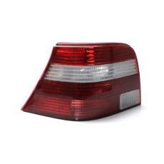 Lanterna Traseira Volkswagen Golf 98 99 00 01 02 03 04 05 06 Bicolor Com Seta Cristal (Lado Esquerdo - Motorista)