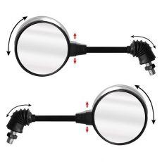 Retrovisor Moto GVS Redondo Com Articulador Rosca Honda (Par)