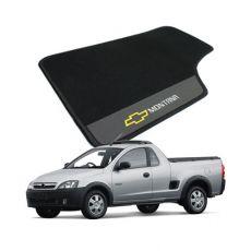 Tapete Carpete Bordado Chevrolet Montana 2004 Até 2010 Com Logo