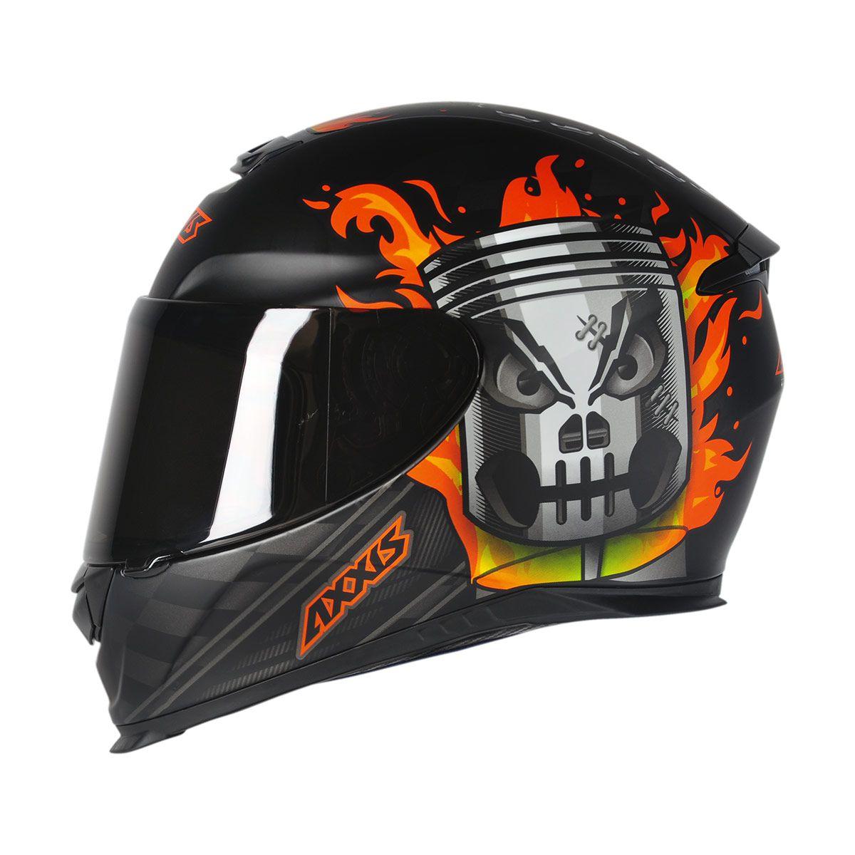 Capacete Axxis Eagle Piston Matt Black/Orange