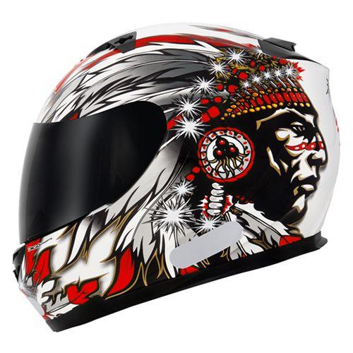 Capacete Mt Helmets Blade Chieftan White/Red