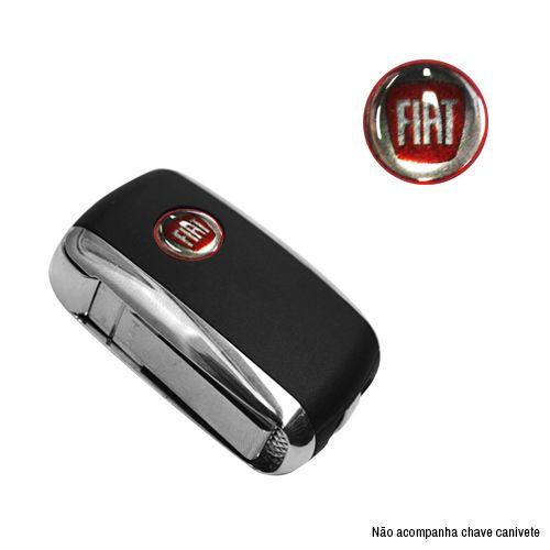 Emblema Logo Chave Canivete Fiat Resinado