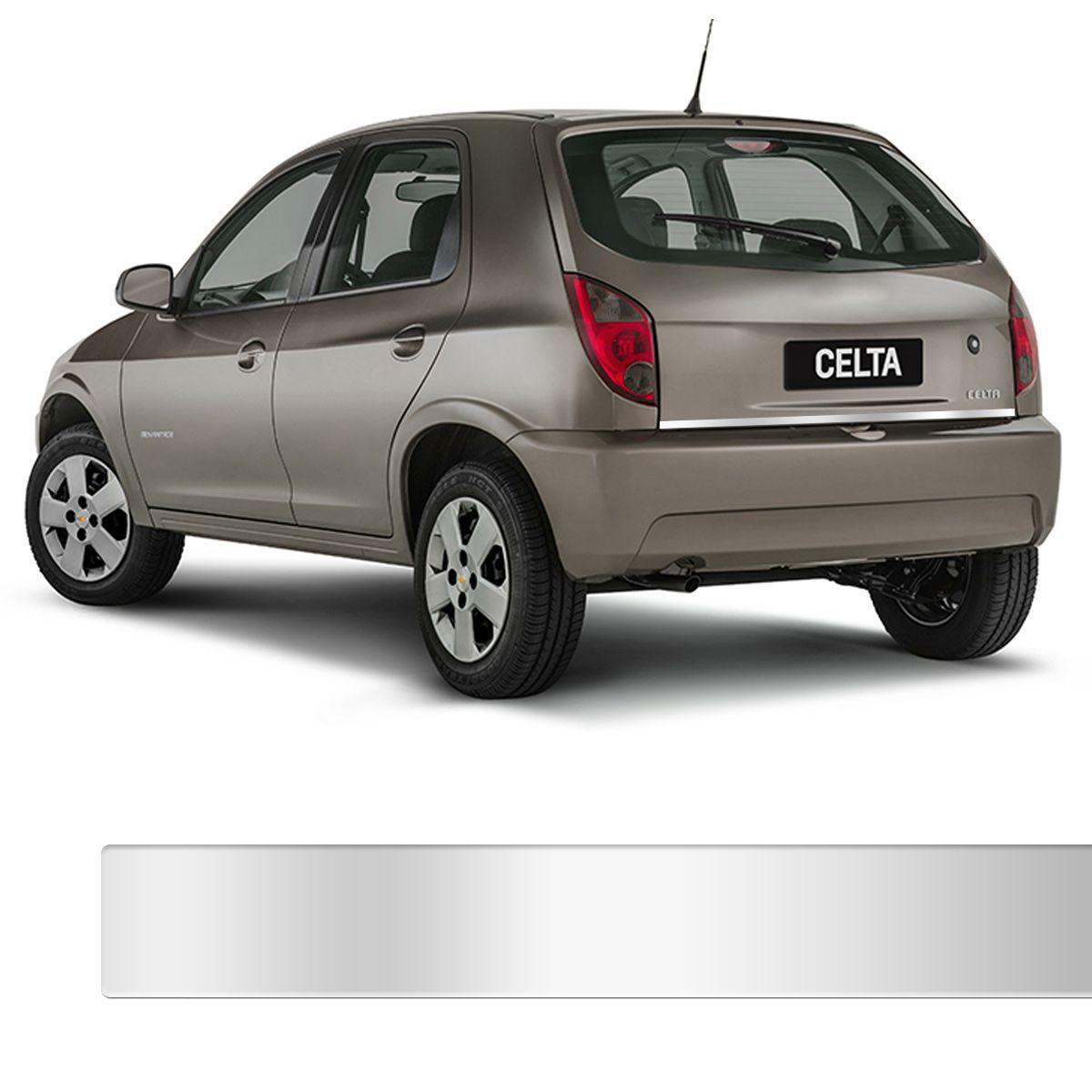 Friso Porta Malas Chevrolet Celta Cromado Resinado