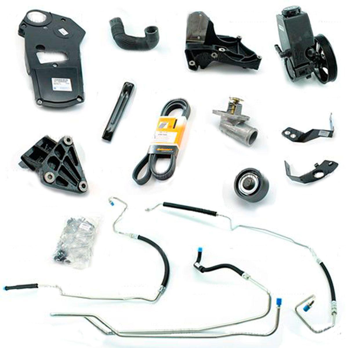Kit De Direção Hidráulica Do Chevrolet Astra Motor 8V De 1999 Em Diante (Sem Caixa Conversão De Eletro Hidráulico Para Hidráulico)
