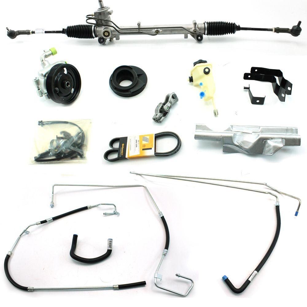 Kit De Direção Hidráulica Do Ford Novo Fiesta 1.0/1.6 (Motor Zetec Rocam) Com Cooler De 2009 Em Diante (Modelos Com Ar Condicionado Original)