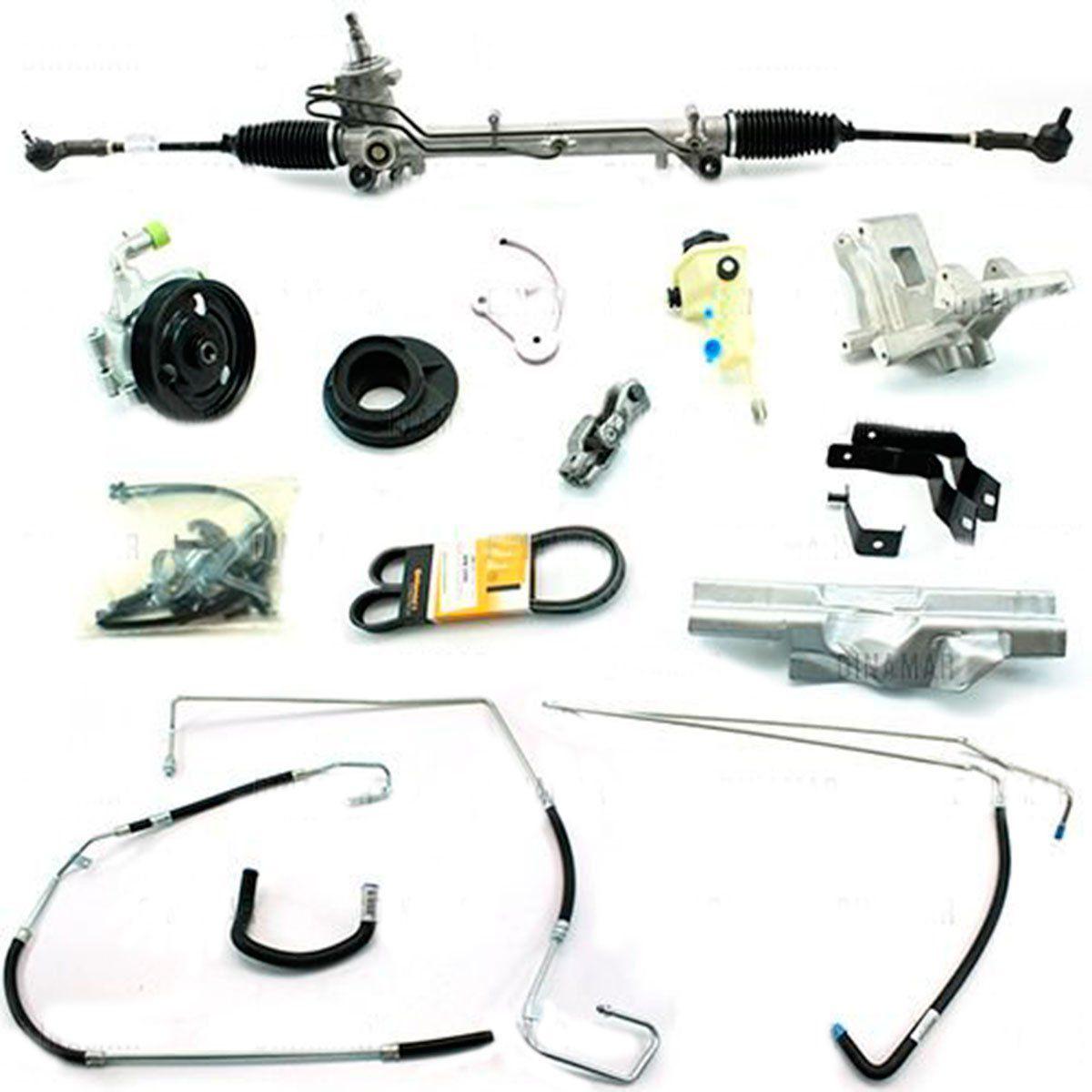 Kit De Direção Hidráulica Do Ford Novo Fiesta 1.0/1.6 Zetec Rocam Com Cooler De 2009 Em Diante (Modelos Sem Ar Condicionado) (Fixação Para Bomba 4 Parafusos)