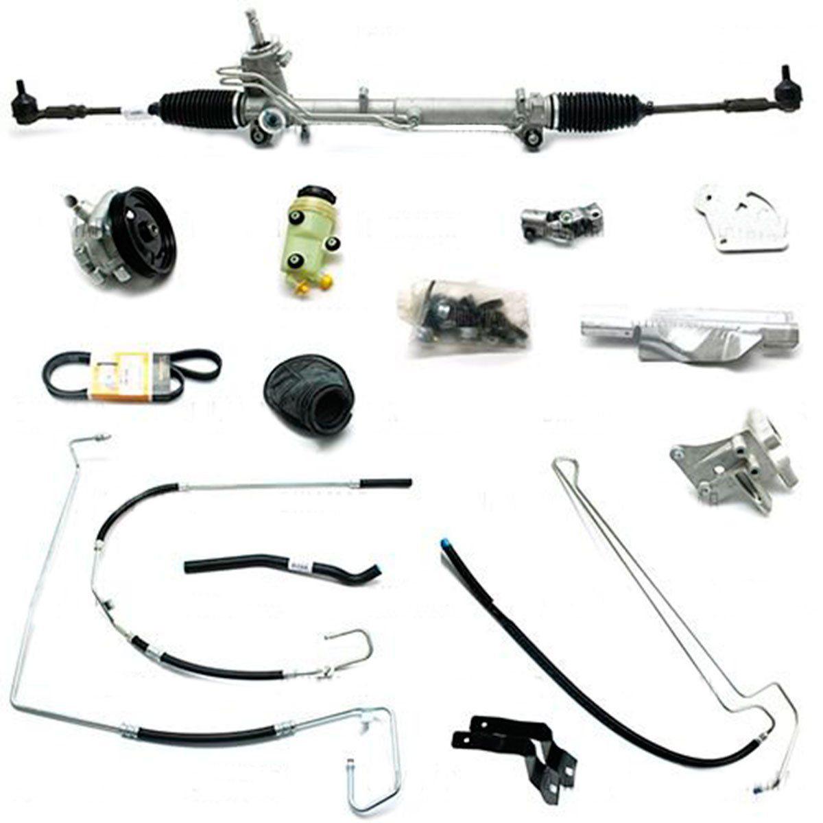 Kit De Direção Hidráulica Do Ford Novo Ka 1.0/1.6 Motor Zetec Rocam De 2008 Em Diante (Modelos Sem Ar Condicionado) (Fixação P/Bomba 4 Parafusos)