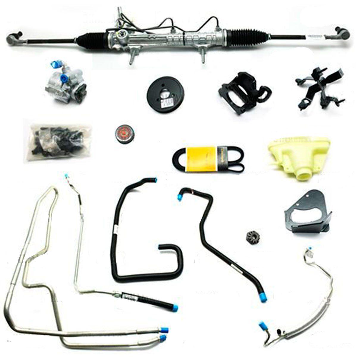 Kit De Direção Hidráulica Do Peugeot 206 1.0 8/16V De 2002 Em Diante (Modelos Com Ar Condicionado)