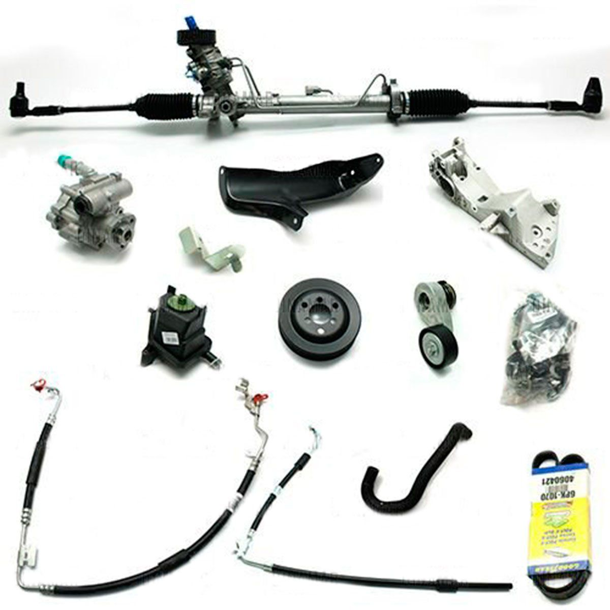 Kit De Direção Hidráulica Do Volkswagen Fox 1.0/1.6 De 2004 Até 2008 (Modelos Com Ar Condicionado Instalado)