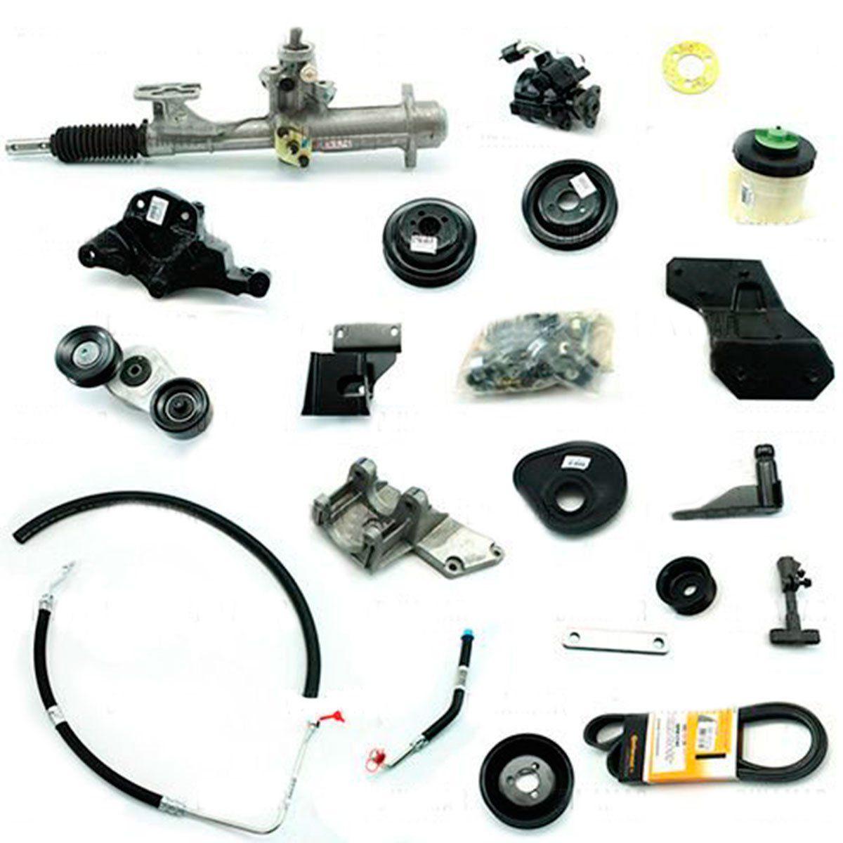 Kit De Direção Hidráulica Do Volkswagen Gol Parati Saveiro Ap 1.6/1.8 (Modelos G2/G3/G4) De 1996 Em Diante (Modelos Sem Ar Condicionado)