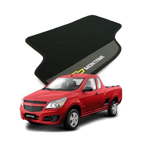 Tapete Carpete Bordado Chevrolet Nova Montana 11 12 13 14 Com Logo