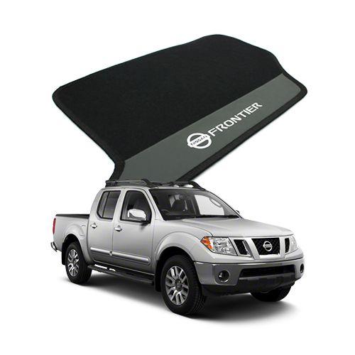 Tapete Carpete Bordado Nissan Frontier 2007 Até 2013 Com Logo