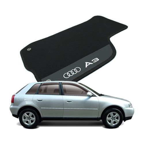 Tapete Carpete Bordado Audi A3 1997 Até 2006 Com Logo