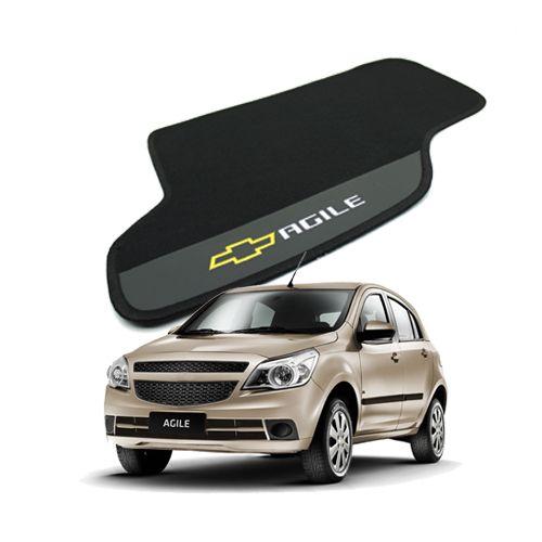 Tapete Carpete Bordado Chevrolet Agile 2010 Até 2014 Com Logo