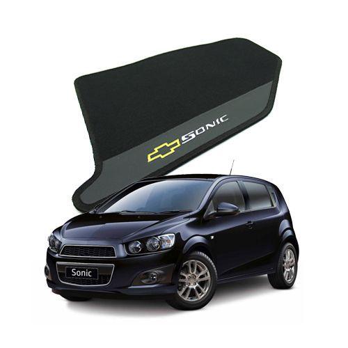 Tapete Carpete Bordado Chevrolet Sonic Hatch/Sedan Com Logo