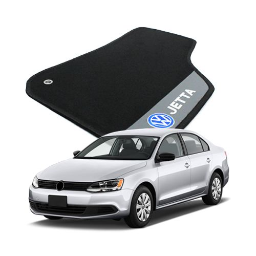Tapete Carpete Bordado Volkswagen Jetta 2006 Até 2010 Com Logo