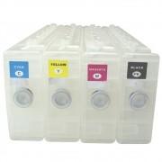 4 Cartuchos Recarregáveis para Plotter Epson S30670, S50670 e S70670 VISUTEC