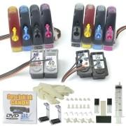 Bulk Ink para Impressora Canon com os Cartuchos 40, 41 VISUTEC