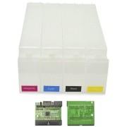 Cartucho Recarregável HP 80 para Plotter Designjet 1050c e 1055 com Chip Reset VISUTEC