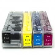Cartuchos Recarregáveis Pro X451, X576, X551dw, HP 970 e HP 971 + 500ml de Tinta VISUTEC