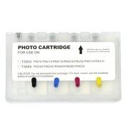Cartucho Único Recarregável PM225 PM300 para Epson PictureMate T5852 e T5846 VISUTEC