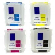 Cartuchos Recarregáveis HP 111, 111r e 110 Designjet Plotter Ch565a e Ch566a VISUTEC
