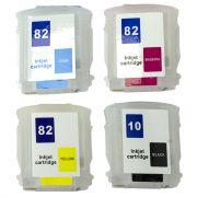 Cartuchos Recarregáveis HP 510 Designjet Plotter Ch565a, Ch566a e Ch567a VISUTEC