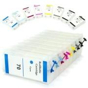 Cartuchos Recarregáveis para Plotter HP Z2100, Z3100, Z3200, Z5200, C9448a e HP70 VISUTEC