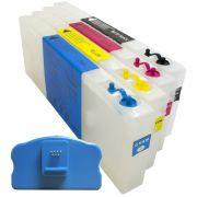 Cartuchos Recarregáveis para Plotter Epson 4450 com Chip e Reseter