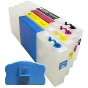 Cartuchos Recarregáveis para Plotter Epson 4450 com Chip e Reseter VISUTEC