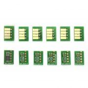 Chip Full para Cartucho Recarregável HP T610, T620, T770, T1100 e T1120 (Jogo com 6 Chips)
